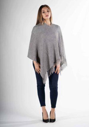 poncho mantella ragazza estate inverno elegante pura lana alpaca