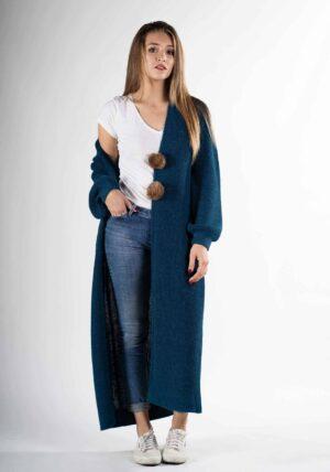 cappotto lungo cardigan lana alpaca donna