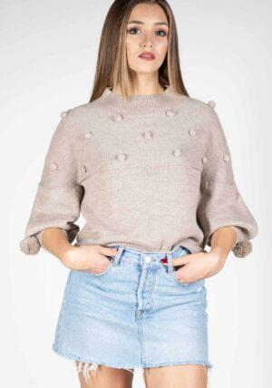 maglia maglioncino donna design pura lana alpaca mezza stagione moda 2019