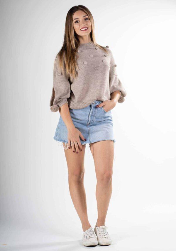 maglia beige donna design pura lana naturale alpaca soffice come il cashmere primavera estate 2019