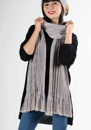 sciarpa sciarpone lungo solo lana alpaca donna uomo