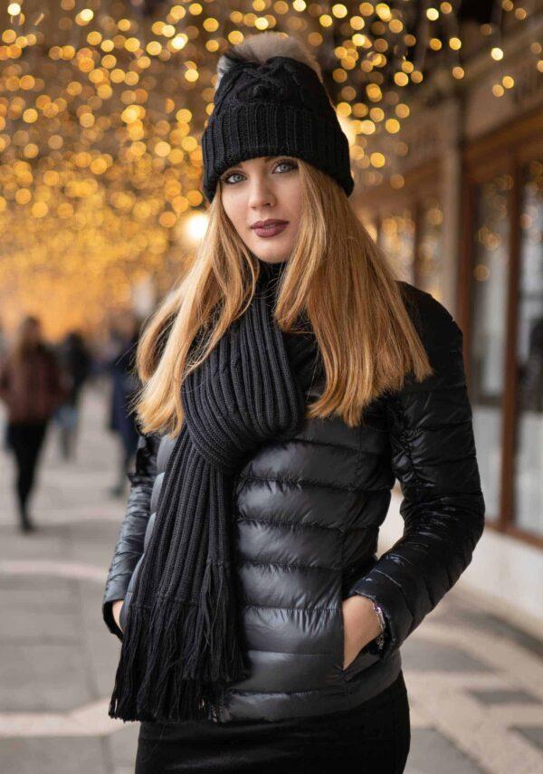 sciarpa nero coste morbido come cashmere donna lana alpaca trend moda autunno inverno 2019
