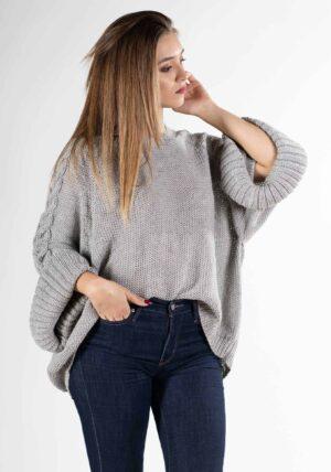pullover oversize donna-manica larga pura lana alpaca-mezza stagione