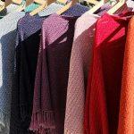 Poncho mantella colorato donna